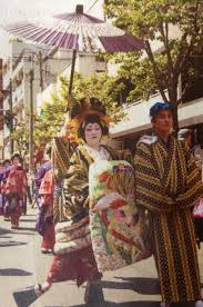 Big Ang Mural Unveiling by Courtesan Customs Reenactment Edo Yoshiwaran Oiran Dochu