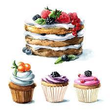 Drawn cupcake cake art 3