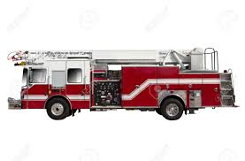 100 Fire Truck Red Isolated On White
