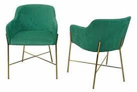 2x armlehnstühle blau gold samtbezug esszimmerstühle
