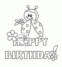 Happy Birthday Card Printable Coloring Page Cards