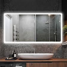 platz bad glas spiegel wand smart touch antifog led wc spiegel wandbild mit feuchtigkeit proof bad spiegel eitelkeit angepasst