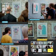 Creative Photoshop Poster Exhibition Gallery Mock Up