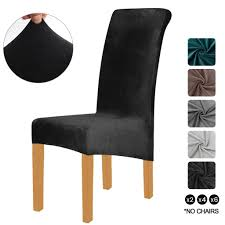 xl velvet stretch esszimmerstuhl hussen elasthan plüsch stuhlhussen solide großes esszimmer stuhl protector home décor