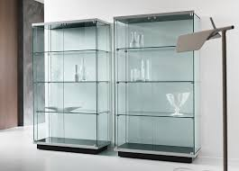 Brilliant Glass Display Cabinet Pertaining To Aluminium Single