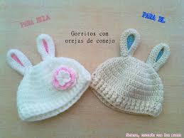 DIY Patron Gorro crochet ganchillo con orejas de conejo para bebe