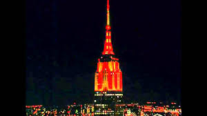 Empire State Building in New York 2015 Halloween Light Show