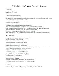 Software Testing Sample Resume Resumes For 1 Year