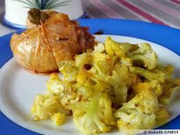 cuisine chou chou fleur caramélisé au curcuma recette de cuisine