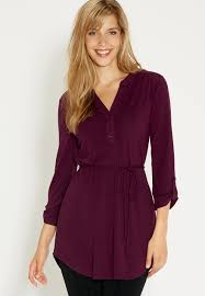 tunic with tie belt in fig maurices new arrivals pinterest