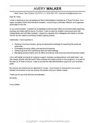 Top Cv Examples For Administrative Position Leading Professional Store Assistant Cover Letter