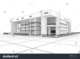 100 Www.modern House Designs 3d Modern Design Blueprint Style Stock Illustration