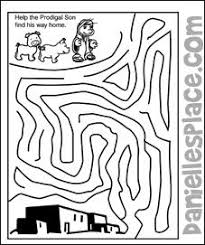 Help The Prodigal Son Find His Way Home Activity Sheet From Daniellesplace
