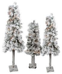 75 Flocked Christmas Tree by 3 Flocked Woodland Alpine Artificial Christmas Trees 3 U0027 4 U0027 U0026 5
