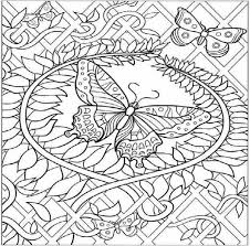 Hard Butterfly Coloring Pages
