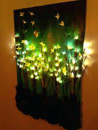 led light wall decorative lights ideas up canvas