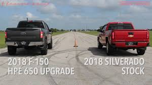 100 Ford Trucks Vs Chevy Trucks HP650 Supercharged F150 Truck Vs Stock Silverado Truck