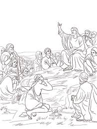 Click To See Printable Version Of Jesus Sermon On The Mount Coloring Page