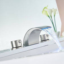 Ebay Bathroom Faucets Brushed Nickel by Brushed Nickel Bathroom Faucet Widespread Ebay