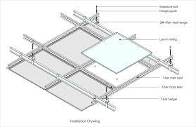 aluminium suspended lay in insulation aluminum suspended ceiling