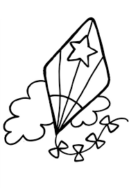 Kite Star Patten Colouring Page PageFull Size Image