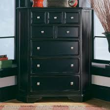 Cheap Black Dresser Drawers by Corner Black Stained Wooden Dresser Drawer Chests For Small Spaces
