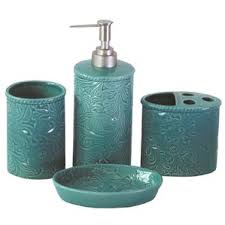 Savannah Turquoise Kitchen Canister Set by Bath Accessory Sets You U0027ll Love