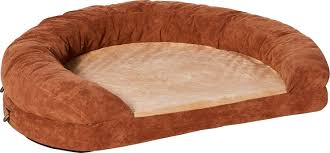Bolster Dog Bed by K U0026h Pet Products Ortho Bolster Sleeper Pet Bed Brown Large