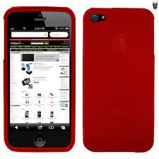 FlexiShield Skin For iPhone 5S 5 Red MobileZap Australia