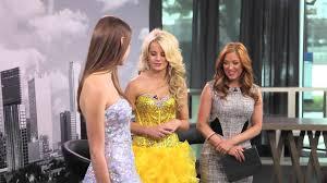 alyce paris u0026 payton rae tv fashion show prom dress shopping