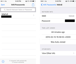 How to find the password of your saved WiFi networks on iPhone