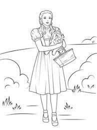 Dorothy Holding Toto Coloring Page From Wizard Of Oz Category Select 24652 Printable Crafts