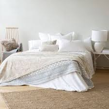 COTTON AND JACQUARD LINEN BEDSPREAD CUSHION COVER