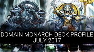 decks july 2017 amazing domain monarch deck profile july 2017 link summoning