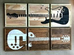 Guitar Wall Art Ideas Decor The Best On Cool Crazy Hooks Metal