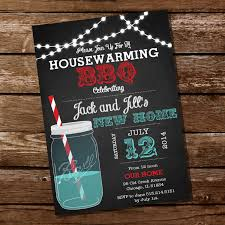 Chalkboard Housewarming BBQ Invitation By SunshineParties On Etsy