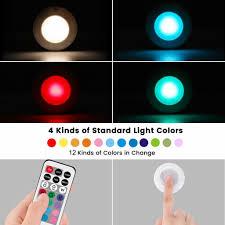 led schrankbeleuchtung dimmbares unterschrank beleuchtung 13 farben 4 dynamische modi nachtlicht batteriebetriebenes treppen licht mit fernbedienung