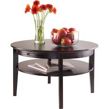 Medicine Cabinets Walmart Canada by Amelia Round Coffee Table With Pull Out Tray Espresso Walmart Com