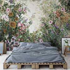 vintage floral painting fototapete