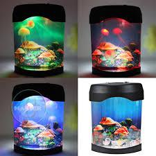 led usb mood light decoration model aquarium jelly fish water tank