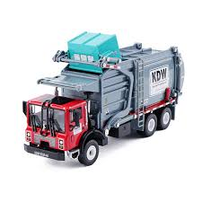 98 Garbage Truck Party Supplies Amazoncom KAIDIWEI 143 Scale Diecast Material Transporter