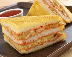 rillette de poulet maison recette club sandwich doré au pesto de tomate et rillettes de