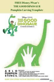 Tinkerbell Pumpkin Carving Stencil Free by Disney Pixar U0027s The Good Dinosaur Pumpkin Carving Template