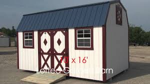 Tuff Shed Barn Deluxe by 10x16 Lofted Garden Barn Rev Mov Youtube