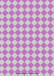 Free Checkered Printable Paper Pack From Activity Villiage