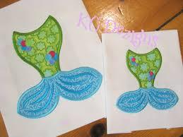 Mermaid Tails 01 Machine Applique Embroidery Design KC Dezigns