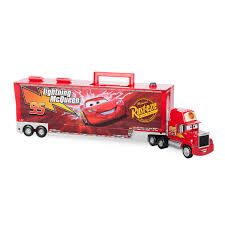 100 Lightning Mcqueen Truck Mack Friction Motor Hauler Plus Six Pullback Cars Set ShopDisney
