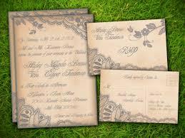 Diy Rustic Wedding Invitations Burlap