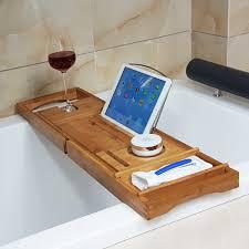 Bamboo Bathtub Caddy With Reading Rack by Honana Bx 816 Expandable Bamboo Bath Caddy Wine Glass Holder Tray