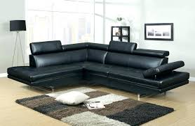 canap d angle cuir noir canape panoramique simili cuir canapa sofa divan canapac dangle 5